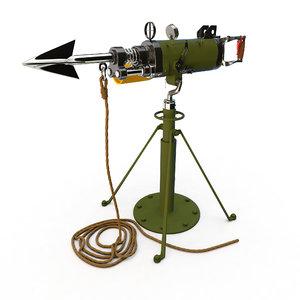 harpoon weapon c4d