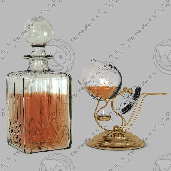 3d crystal decanter cognac warmer