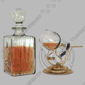 3d crystal decanter cognac warmer