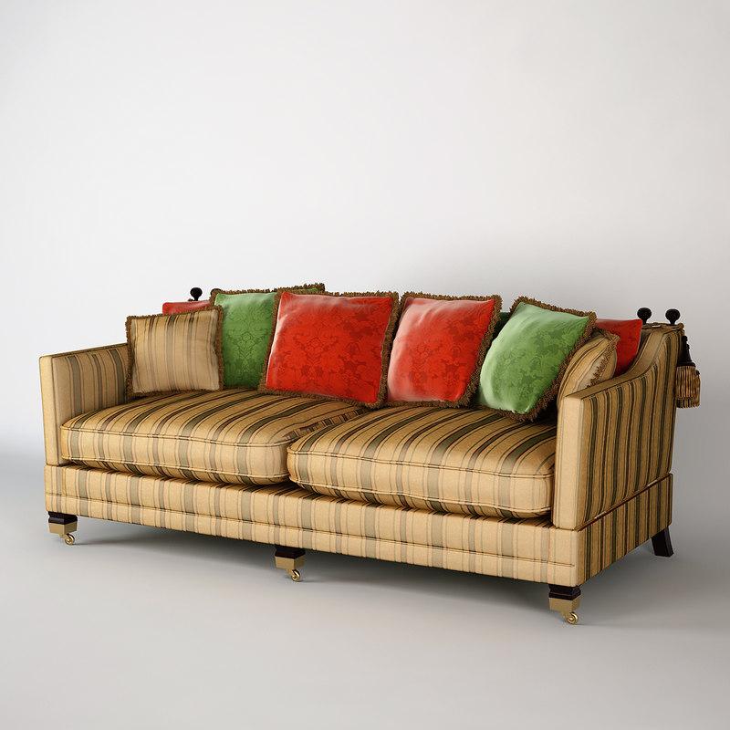 3d duresta trafalgar sofa model