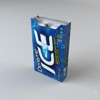 dentyne ice peppermint 3d c4d