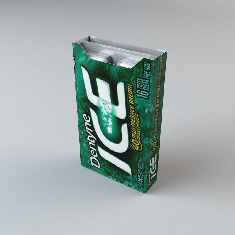 dentyne ice spearmint c4d