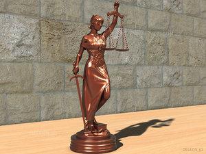 3d statue themis justice