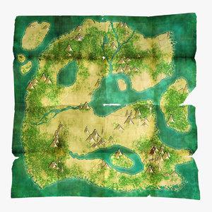 treasure maps 3d model