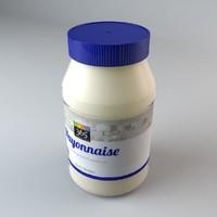 mayonnaise jar mayo c4d