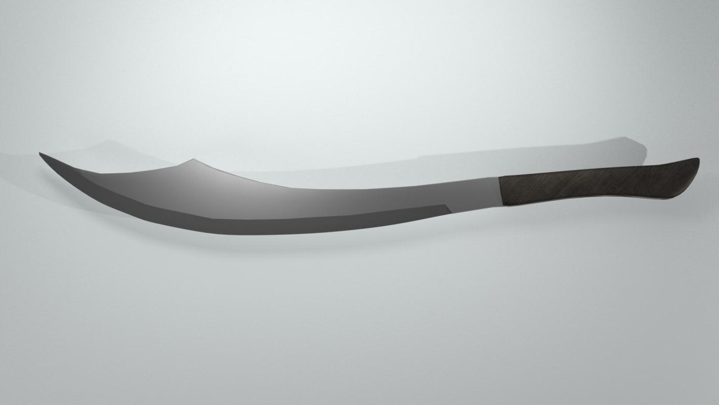 scimitar blender 3d model