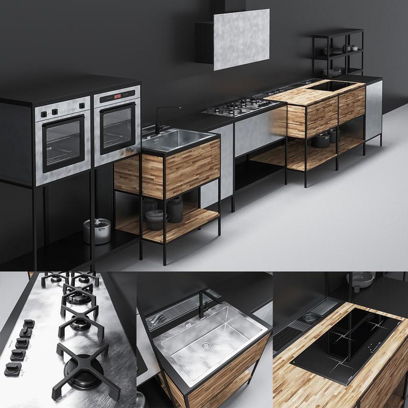 barazza kitchen 01 3d obj