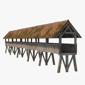 wooden footbridge 3ds