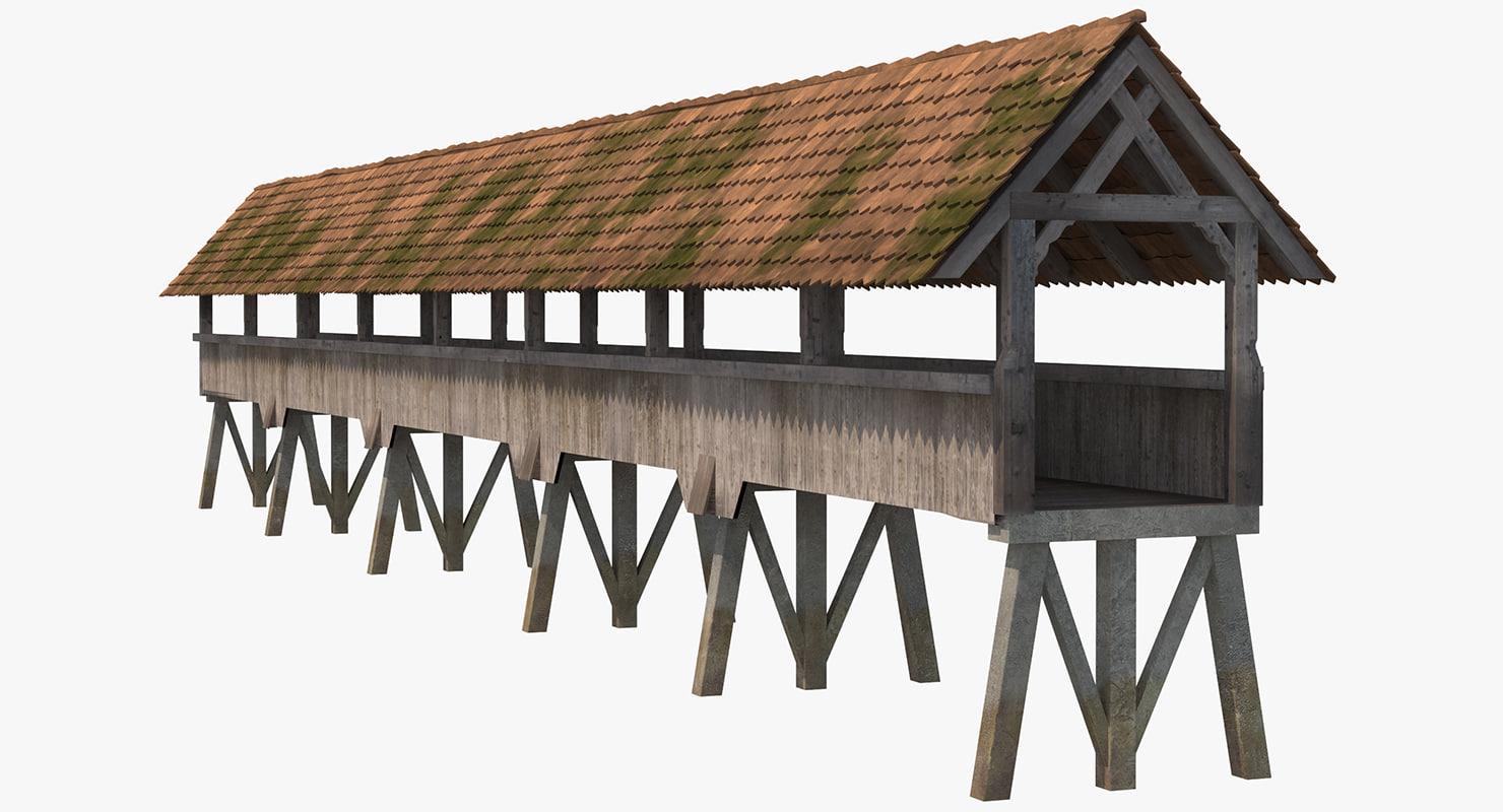 wooden footbridge 3ds