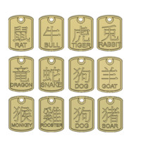 Zodiac Pendants CAD data