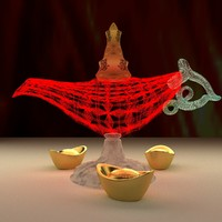 3d chinese magic lamp