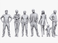 Lowpoly People Casual Pack Vol.3
