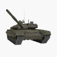 T-72B3 Soviet Main Battle Tank Rigged 3D Model