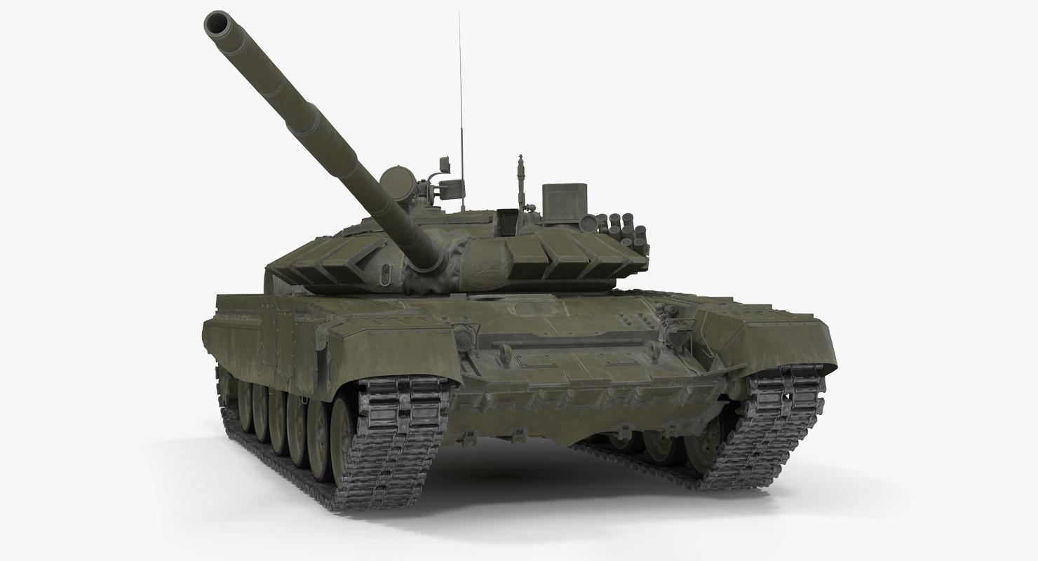 t-72b3 soviet main battle tank 3d max