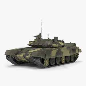 t72 main battle tank 3d max