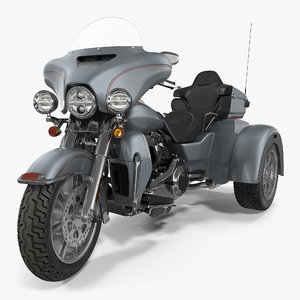 trike motorcycle generic rigged max