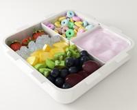 58 cereals box 3d model