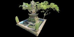 3d model of shrine frangipani