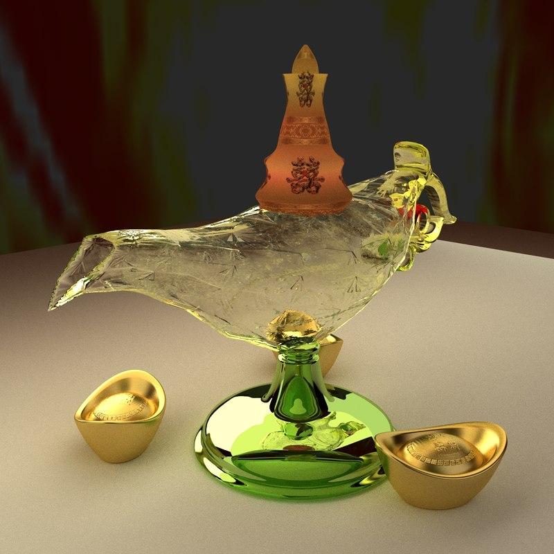 3d model chinese magic lamp