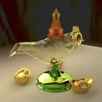 3d model chinese magic lamp