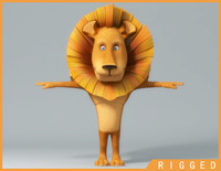 Cartoon_Lion_Rigged