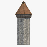 3d max medieval tower