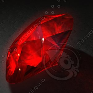 3d ruby red model
