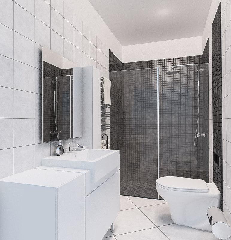 3ds bath bathroom room