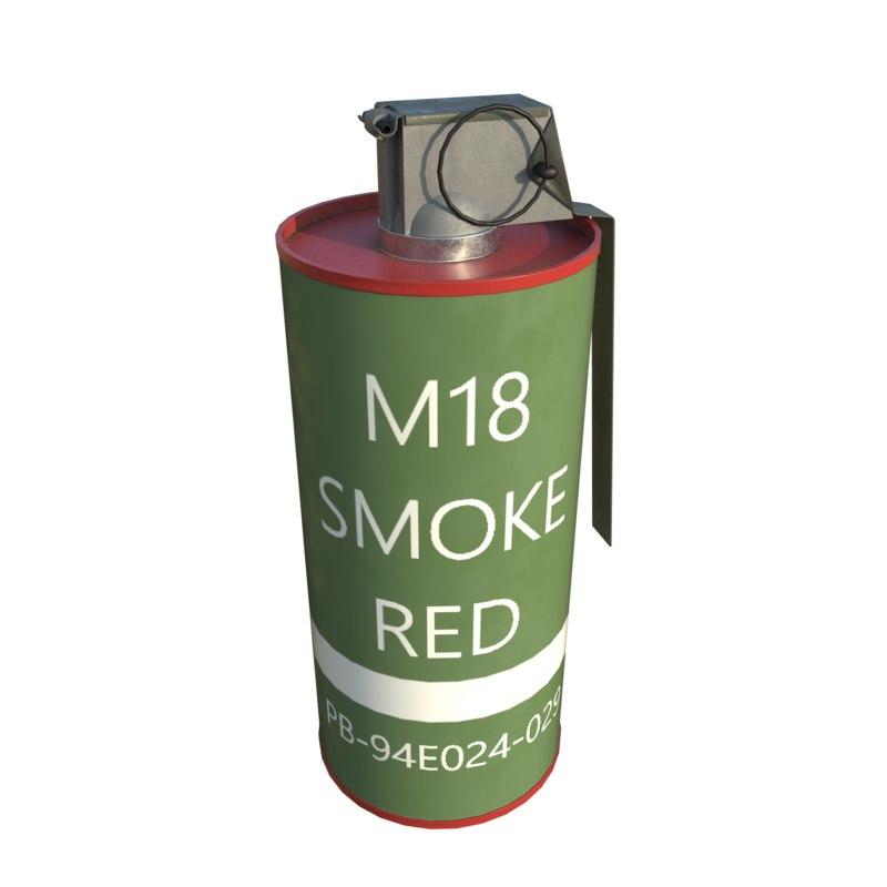 m18 smoke grenade 3d 3ds