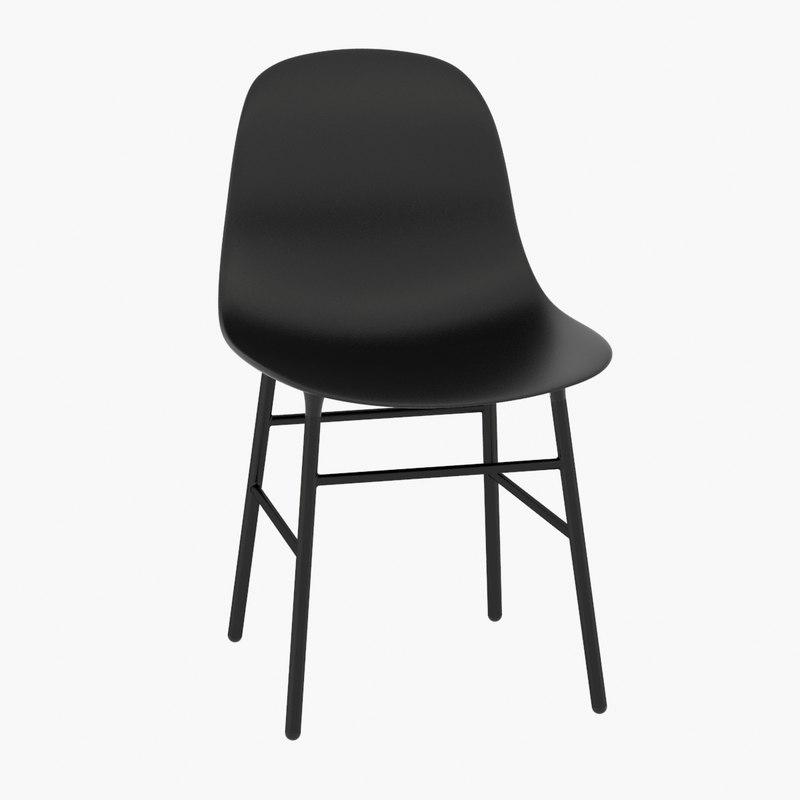 3d model form steel chair