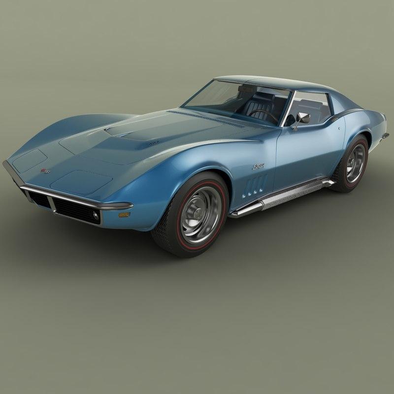 3d model of 1969 chevrolet corvette c3