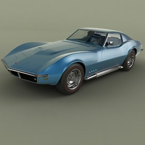 3d model of 1969 chevrolet corvette c3