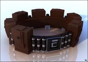hero belt gadget 3d model