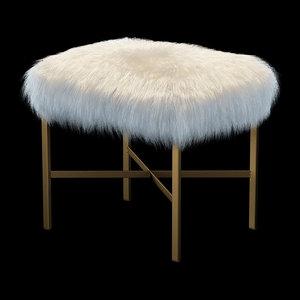 3d faux mongolian lamb fur model