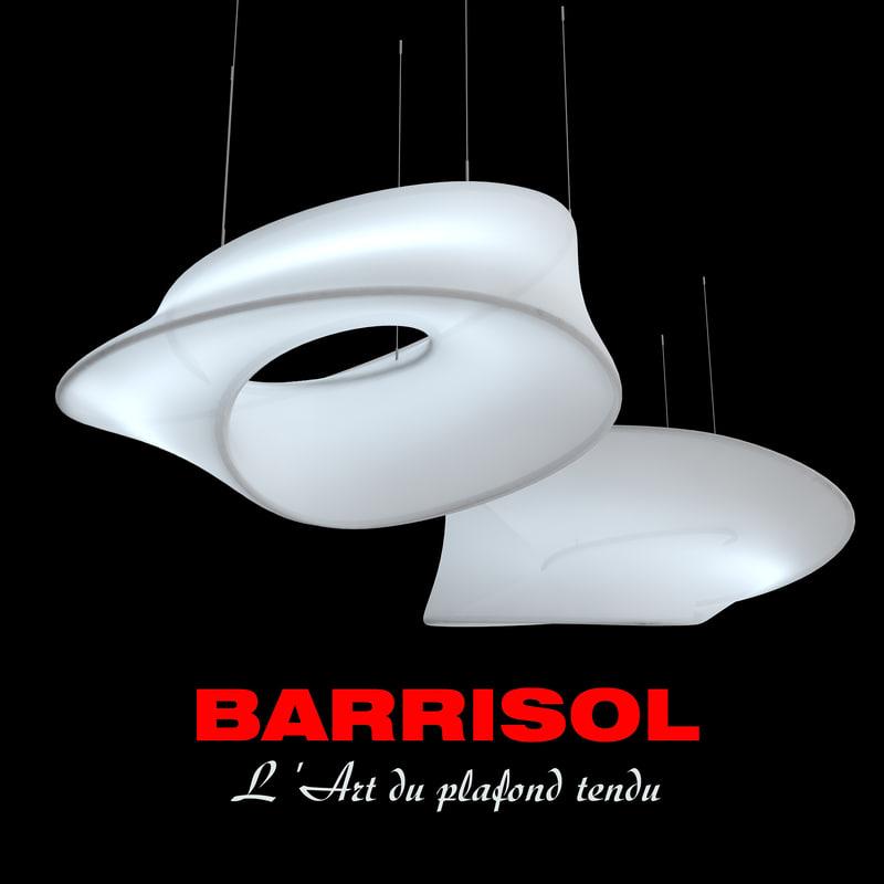 pendant light barrisol ross lovegrove 3d model