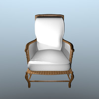 3d model bordeaux chair