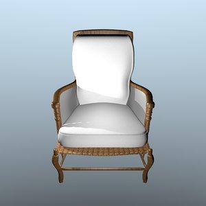 3d model bordeaux chair
