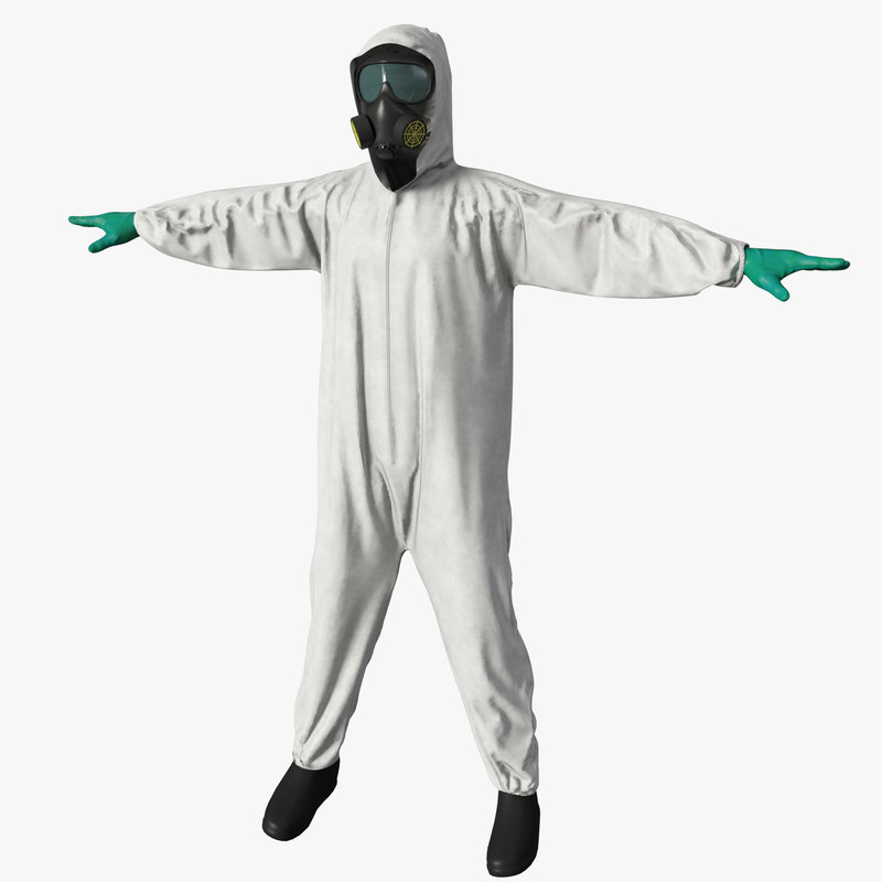 hazmat worker clothes 3d max