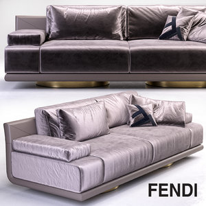 fendi artu 3 seater 3d model