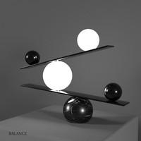 3d balance lamp