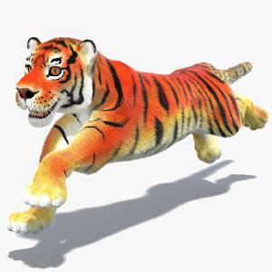3d max cartoon tiger fur cat