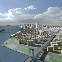 3d model new york city skyline