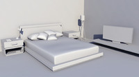 Modern Bed and Decorative Elements