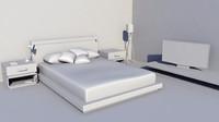 modern bed 3d ma