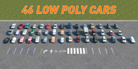 46 CARS LOW POLY