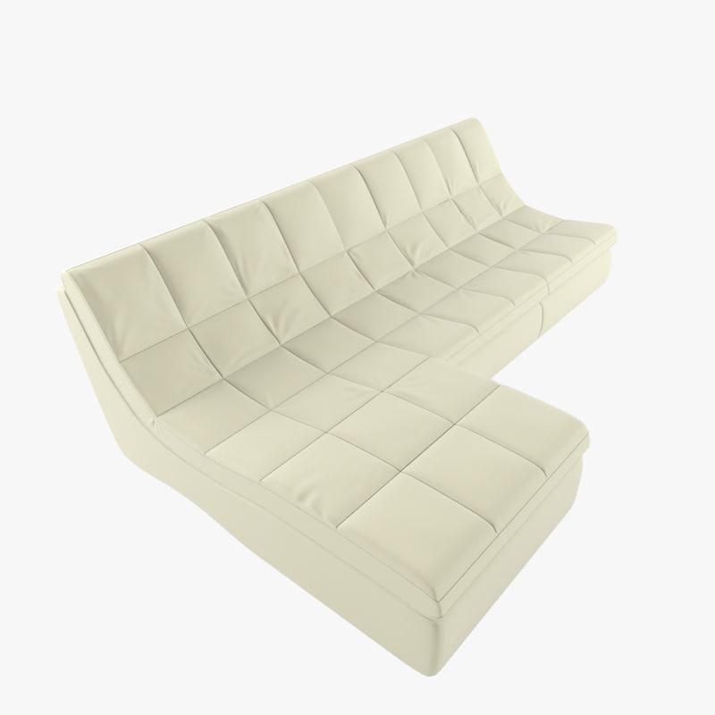 3d model photoreal sofa