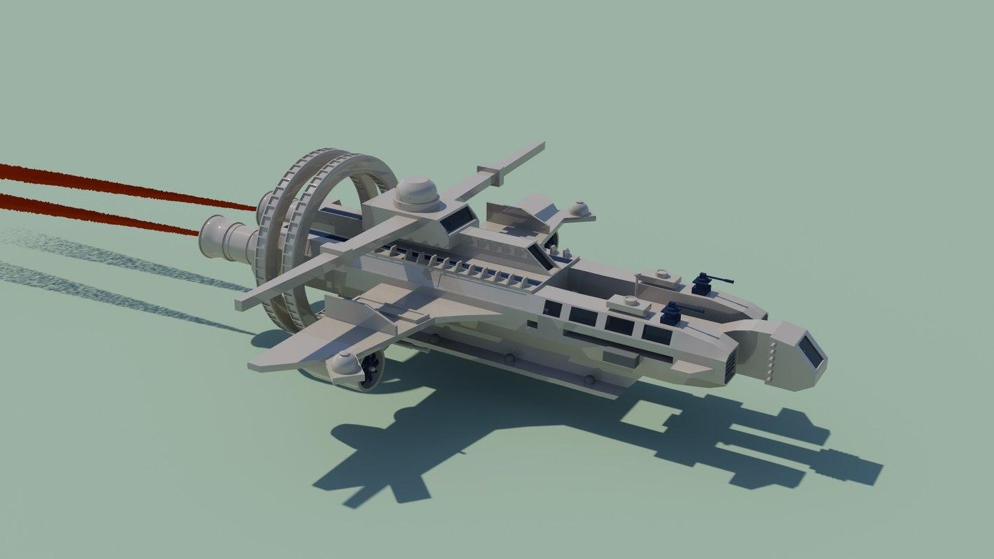 spaceship sc-fi fantasy 3d model