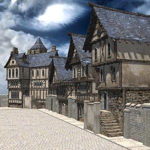 3d model street fantasy unity