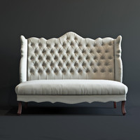 isabella wing banquette 3d model