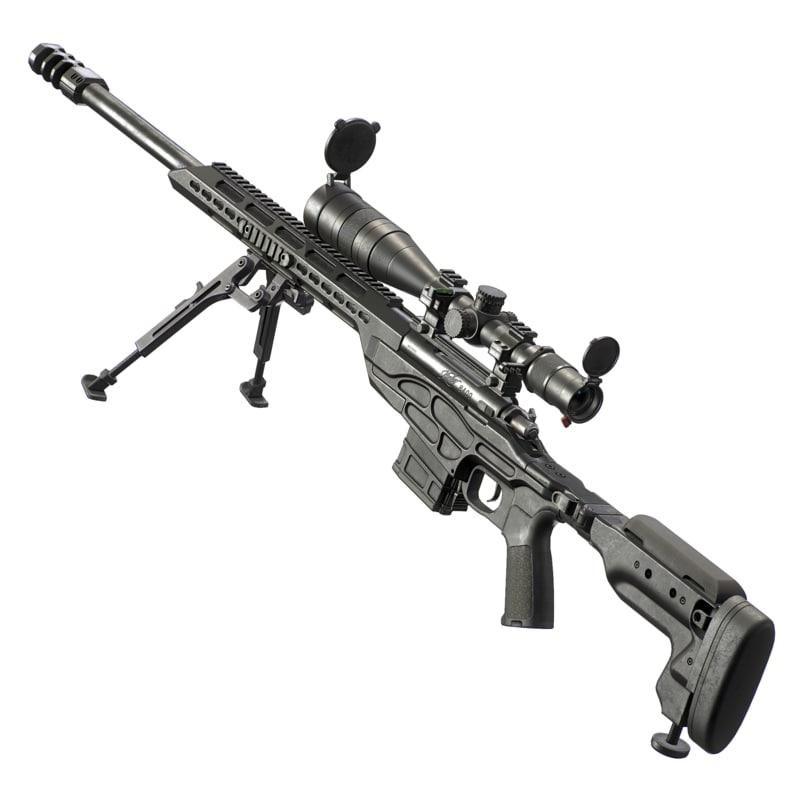 kimber soc tactical sniper rifle 3d obj